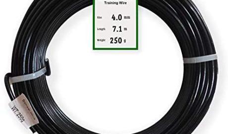 Grow A Bonsai Tree Fil Aluminium Anodisé de 4,0mm pour L'Entretien de Bonsai 250g Grand Rouleau (7 mètres) - Choisissez Votre Taille et Couleur (4,0mm, Noir)